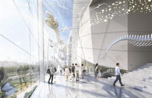 成都自然博物馆主体结构完工 明年6月来看亚洲最大恐龙