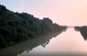 大渡河湿地公园晨景美如画